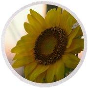 Sunrise Sunflower Round Beach Towel