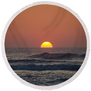 Sunrise - Sunset Round Beach Towel