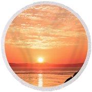 Sunrise - Sunset Round Beach Towel
