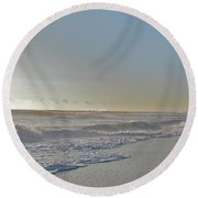 Sunrise Surf - Island Beach State Park Nj Round Beach Towel