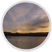 Sunrise Temple Bar Lake Mead Round Beach Towel