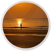 Sunrise Walk Round Beach Towel