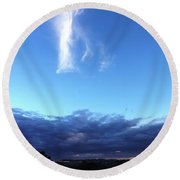 Sunrise White Cloud Round Beach Towel