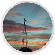 Sunrise Windmill Round Beach Towel