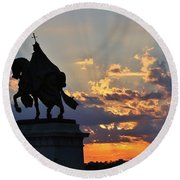 Sunrise With Saint Louis The 9th Round Beach Towel