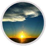 Sunset @ Chesapeake Bay-2 Round Beach Towel