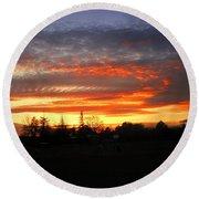 Sunset 02 28 13 Round Beach Towel