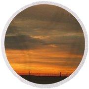 Sunset 1013 Round Beach Towel by David Dehner