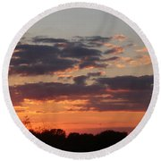 Sunset -2013-09-21 Round Beach Towel