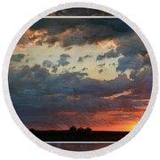 Sunset After A Thunderstorm Photoart Round Beach Towel