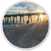 Sunset Art Round Beach Towel