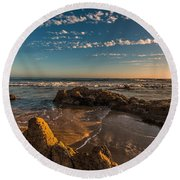 Sunset At Crystal Cove 12 Round Beach Towel