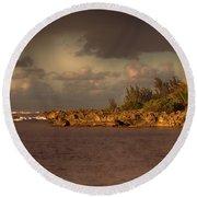 Sunset At Haleiwa Beach Oahu Hawaii V3 Round Beach Towel