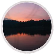 Sunset At Indian Boundary Round Beach Towel