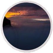 Sunset At Nevado Del Ruiz Round Beach Towel