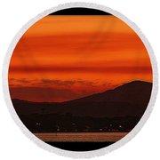Sunset At Noosa Heads Round Beach Towel
