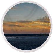 Sunset At Pocono Airport Round Beach Towel
