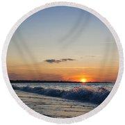 Sunset At Riva Round Beach Towel
