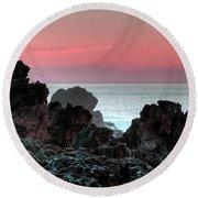 Sunset At Salt Point Round Beach Towel