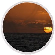 Sunset At St Ives Round Beach Towel