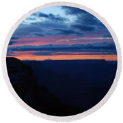 Sunset At The Grand Canyon Round Beach Towel