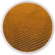Sunset At The Great Sand Dunes National Round Beach Towel