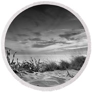 Sunset At The Mediterranean Sea Round Beach Towel