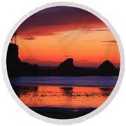 Sunset Bay Sunset 2 Round Beach Towel