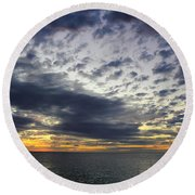 Sunset Beach Hawaii Round Beach Towel