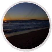 Sunset Beach Round Beach Towel