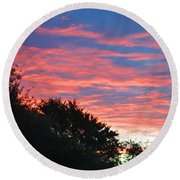 Sunset Bicolor Round Beach Towel