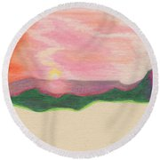 Sunset By Jrr Round Beach Towel
