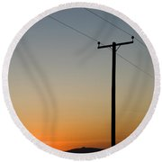Sunset Cables Round Beach Towel