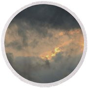 Sunset Cloud Formations Round Beach Towel