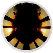 Sunset Folly Round Beach Towel