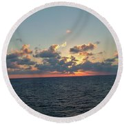 Sunset From The Carnival Triumph Round Beach Towel