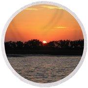 Sunset Glow 2 Round Beach Towel