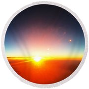 Sunset Glow Round Beach Towel