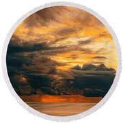 Sunset Grandeur Round Beach Towel