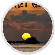 Sunset Grill Don Henley 1984 Round Beach Towel