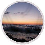Sunset II Round Beach Towel
