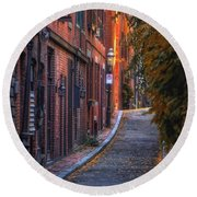 Sunset In Beacon Hill Round Beach Towel