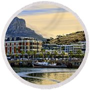 Sunset In Cape Town Round Beach Towel