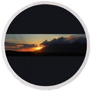 Sunset In Galway Round Beach Towel