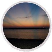 Sunset In Heaven Round Beach Towel