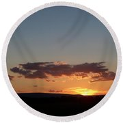 Sunset In Pennsylvania  Round Beach Towel