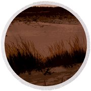 Sunset In The Dunes Round Beach Towel