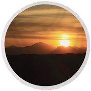 Sunset In The Eastern Desert Sahara Egypt Round Beach Towel