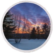Sunset In The Park Square Round Beach Towel