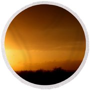 Sunset In The South Of France Round Beach Towel